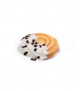 Biscotti Frolla Cioccolato bianco rotondi